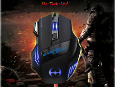 UK 3200DPI 8D Batman T80 3rd 7 Buttons Adjustable DPI Usb Wired PC Gaming Mouse