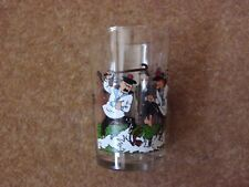 Lovely Tintin Glass - Thomson & Thompson 1986 Lombard - rare.