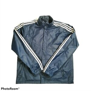 ADIDAS 3 Stripes Blue Jacket Men's Size XL