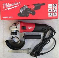 Amoladora Profesional MILWAUKEE AG800-125 E Radial Esmeril 800 w L2015 3.7 A