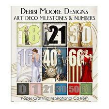 Debbi Moore Designs Art Deco Milestones & Numbers CD Rom (326280)