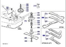 Kubota High Lift Blade Set For G18, G21, GR2100,GR2120 Deck RCK48-G18/RCK48-GREC