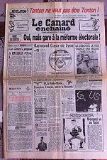 Le Canard Enchainé 24/04/1985; Le Débouté Le Pen vaincu par Massu l'irrécusable