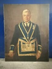 "Antique ~Original ~Oil Painting ~Portrait ~Masonic ~York ~30"" x 38"" ~VGC"