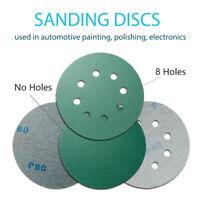 Abrasive Tools Competent 50pcs 5 125mm White Sander Sand Paper Sanding Disc Sanding Sheets