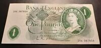 1960's 1970's -  BANK OF ENGLAND - One Pound  £1 Note-  No. 26K 387834 - O'Brien
