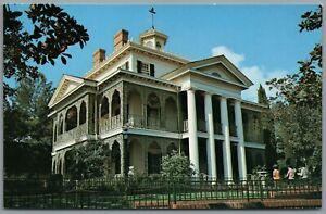 Vintage Postcard Disneyland Anaheim CA Haunted Mansion New Orleans Square disney