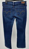 Levi's Women's 524 Jeans Size 13 M Blue Too Superlow Denim Pants 31x32 Pre-Owned