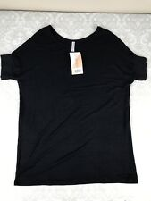 NWT Honey and Lace Piphany Women's XS Tustin Tunic Solid Black HTF Shirt Tee