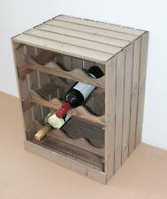 9 Bottles Wooden Wine Rack Apple Crate Style Farm Shop Vintage Brown