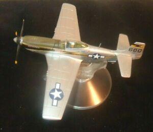 Cir 1990 Legends Corgi P-51D Mustang Diecast Airplane w/Stand
