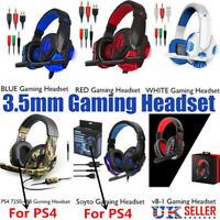 Gaming Headset Stereo Surround Headphone 3.5mm Wired Mic For PS4 Laptop Xbox mc!