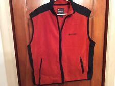 American Eagle Outfitters AE Performance Mens XL Vest Fleece Zip Rust Orange