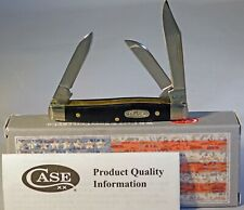 Case XX Smooth Black Delrin Small Stockman Knife (2333 SS) New