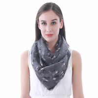 Boxer Print Womens Infinity Loop Scarf Pet Dog Christmas Gift Idea for Her