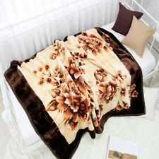 Korean Fashionable Blanket: Brown Flower pattern