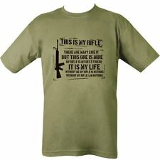 Oliva Para Hombres Regalo Broma Divertida Lema T-Shirt USMC Creed Full Metal Jacket, s 36 in (approx. 91.44 cm)