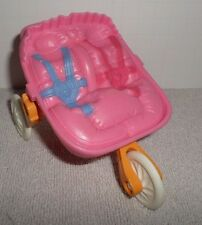 Fisher Price Loving Family Dollhouse Pink Jogger Stroller Twin Baby Stroller