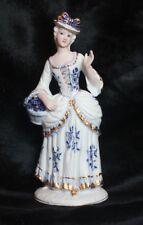 Porzellan Figur Dame Deutsche Noritake Royal Meridian Dekoration Skulptur Deko