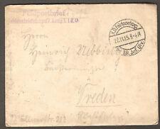 WWI 1915 Germany Military FELDPOST / Field Post  Postal Cover 19 JNF. DIV. CDS