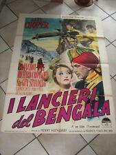 I LANCIERI DEL BENGALA,GARY COOPER,MANIFESTO 2F