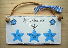 PERSONALISED GIFT baby boy or girl christening or birth handmade keepsake plaque
