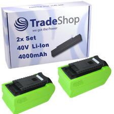 BATTERIA 2x 40v 4000mah li-Ion per Greenworks Tools G-Max Motosega 20117 20077