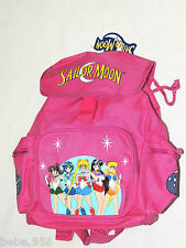 """NWT *SAILOR MOON* PINK CANVAS  BACKPACK  12"""" X 9"""" X 4 1/2"""" WITH SIDE POCKETS"""