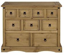 Kommode Apothekenschrank Sideboard aus Massivholz Kiefer 9 Schubladen