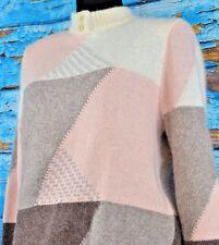 Giusi Slaviero Neiman Marcus Pullover Sweater Size 6 Wool Angora Blend Italy