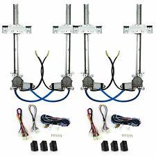 4 Door Flat Power Window Kit 7 #3sw AutoLoc AUTPW55037 truck rat custom hot rod