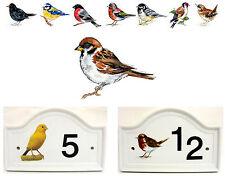 Sparrow House Door Number Plaque Sparrow Bird  Door Sign Any Number Decorated UK