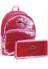 NWT Loungefly Sleeping Beauty Reversible Sequin Pink Mini Backpack & Wallet