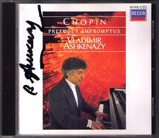 Vladimir Ashkenazy SIGNED Chopin 26 Preludes op.28 45 Four Impromptu fantasia CD