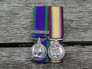 Gulf War And Northern Ireland GSM Miniature / Dress Medal Pair