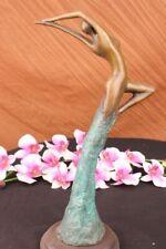 Original Abstract Real Bronze Bust Sculpture. Mid Century Modern. female Artwork