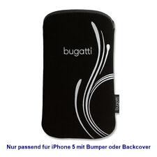"""Bugatti Handytasche SlimCase Tasche Silver """"b"""" für Apple iPhone 5"""