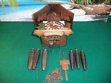 Dar frohllohe Wanderer Cuckoo Clock Edelweiss for parts/repair 7707-18