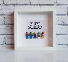 Super Mario Bros Mini Figures Frame (Mario • Luigi • Lego)