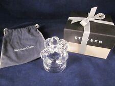 STEUBEN GLASS Crown Paperweight ~ EXCELLENT in STEUBEN BOX