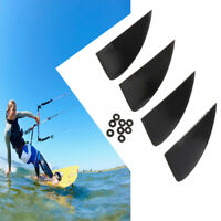 4pcs Kiteboard Fin Kite Surfing Board Direction Turing Gear Guide Fin Black