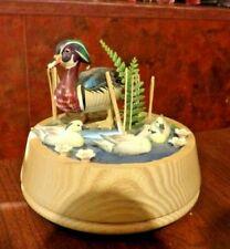 Helmut Diller Handmade Wood Duck Music Box, Plays Moon River