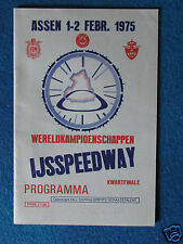 Ice Speedway Programme -  World Championship QF - 1-2/2/75 - Held at Assen