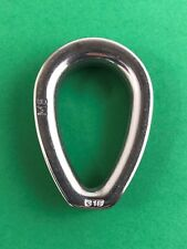 """Stainless Steel 316 Wire Rope Thimble Casting with Closed End 5/16"""" (8mm) Marine"""