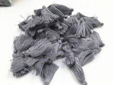 100pc gray Small Cotton Thread Tassel Charm Pendant  Sewing Crafts Tassels 3cm