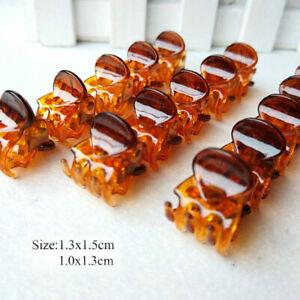 12Pcs/sets Mini Hair Clip Claw Clamps Small Plastic Children Multicolour Hairpin