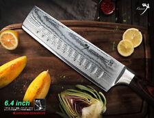 "Japanese VG10 Core Damascus Nakiri Vegetable Knife 6.4"" Kitchenware Cutlery"
