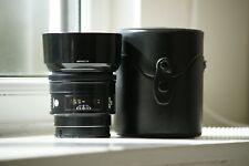 Minolta 85mm F1.4 AF Lens, Hood, Caps and Case fits Sony A - Needs Repair