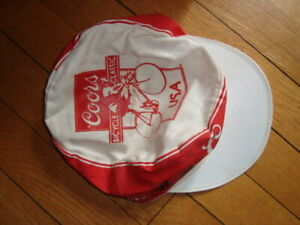 """Vintage Coors Bicycle Classic Cycling Cap ONE SIZE White 1980s  """"the real deal"""""""