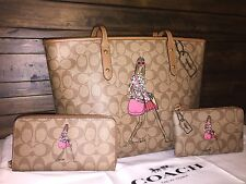 Coach Bonnie Cashin F57617 Set : City Tote/Wristlet/Accordion Wallet/BNWT